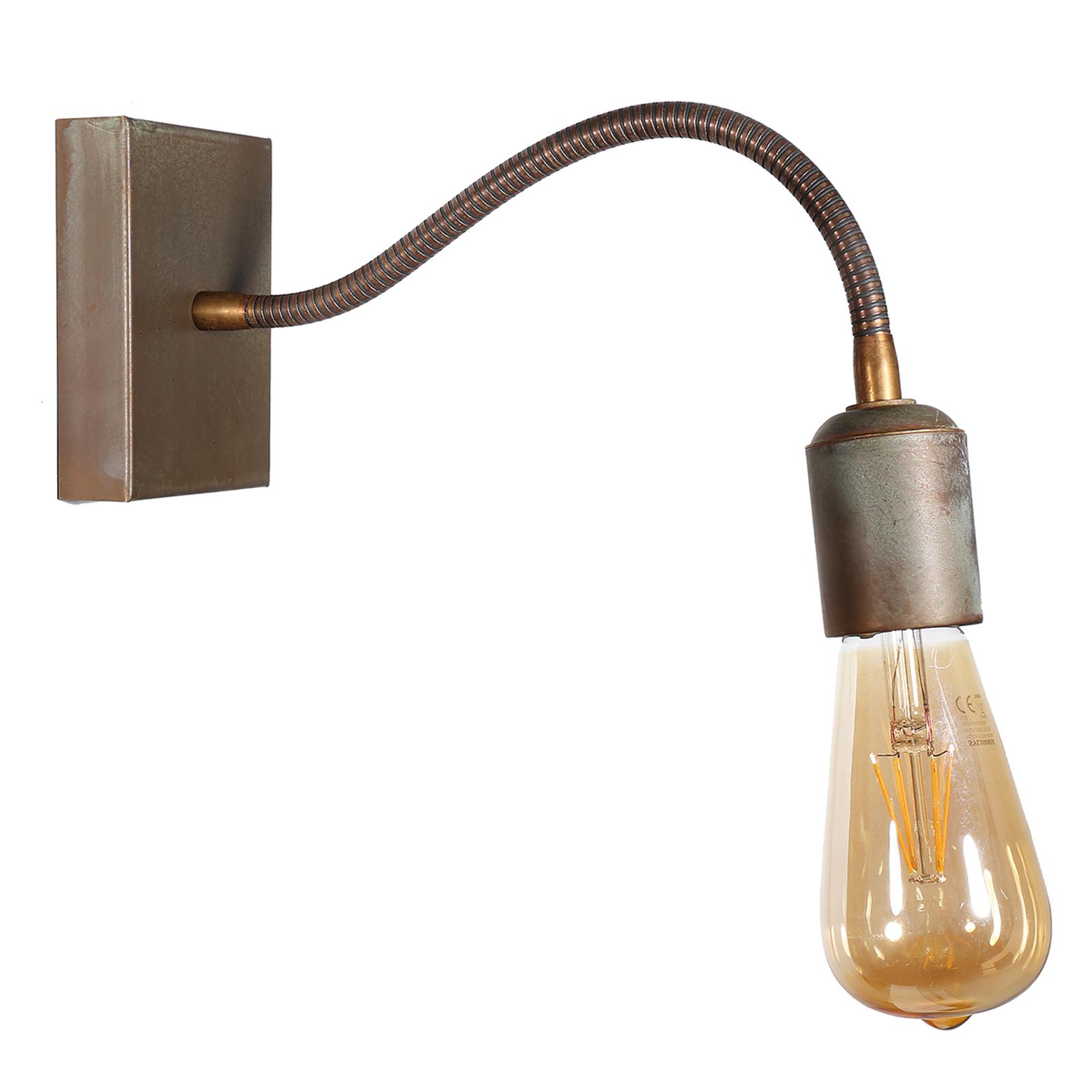 Z elastycznym ramieniem-lampa ścienna Orio mosiądz