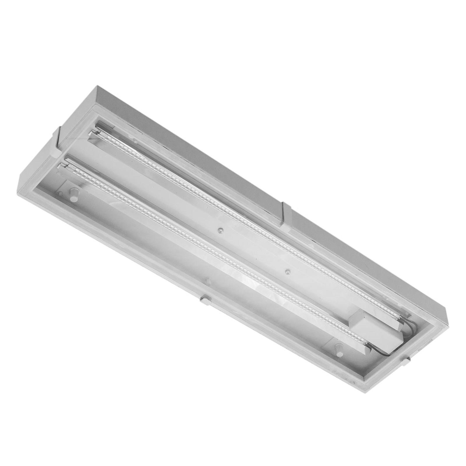 Luminaire LED pour halls Narrow Beam en verre 56W