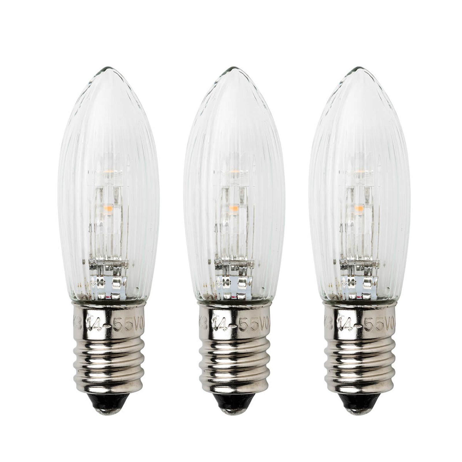 Lampka zast. E10, 0,3W 24V, 3 szt. w opakowaniu