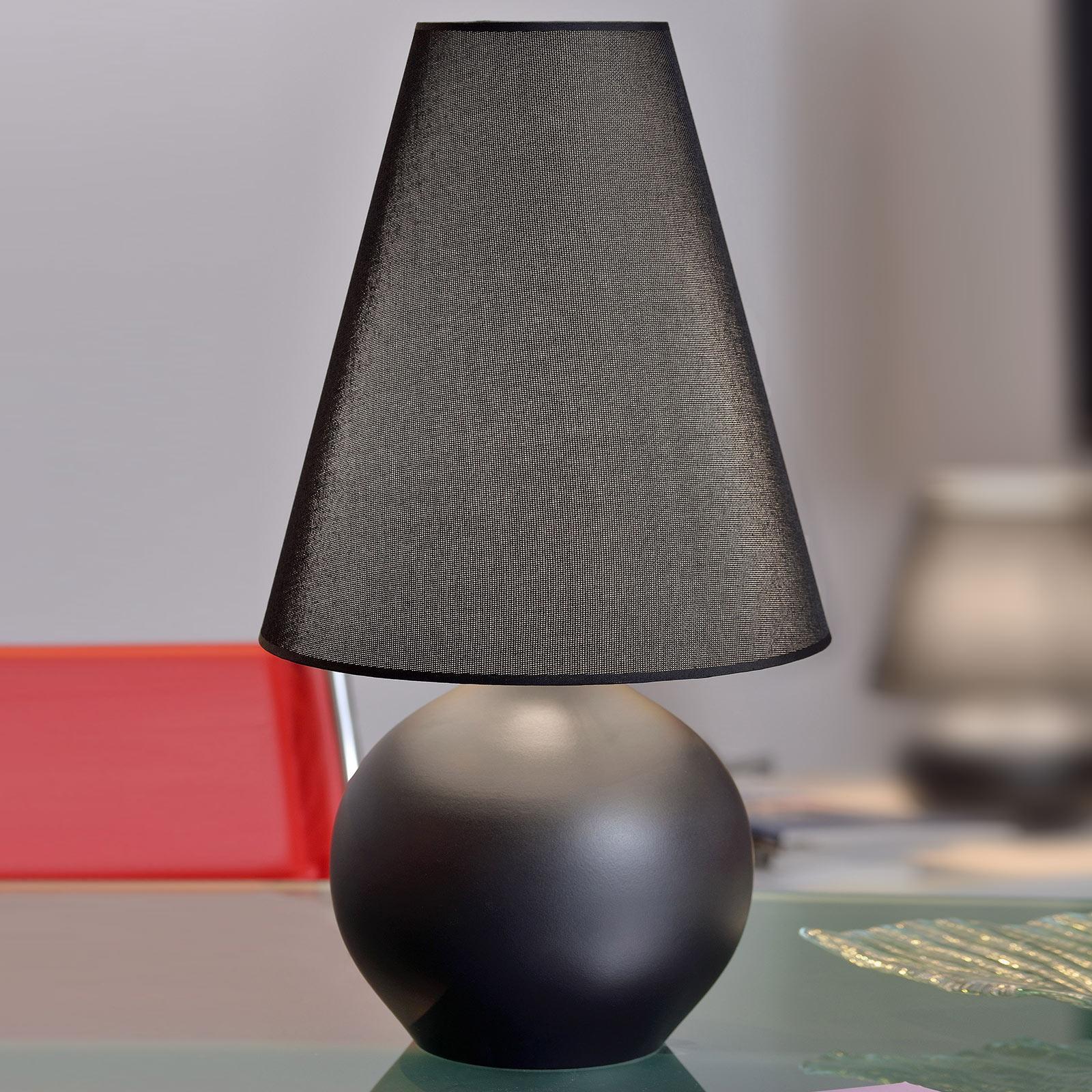 Tafellamp Sfera, hoogte 44 cm, zwart