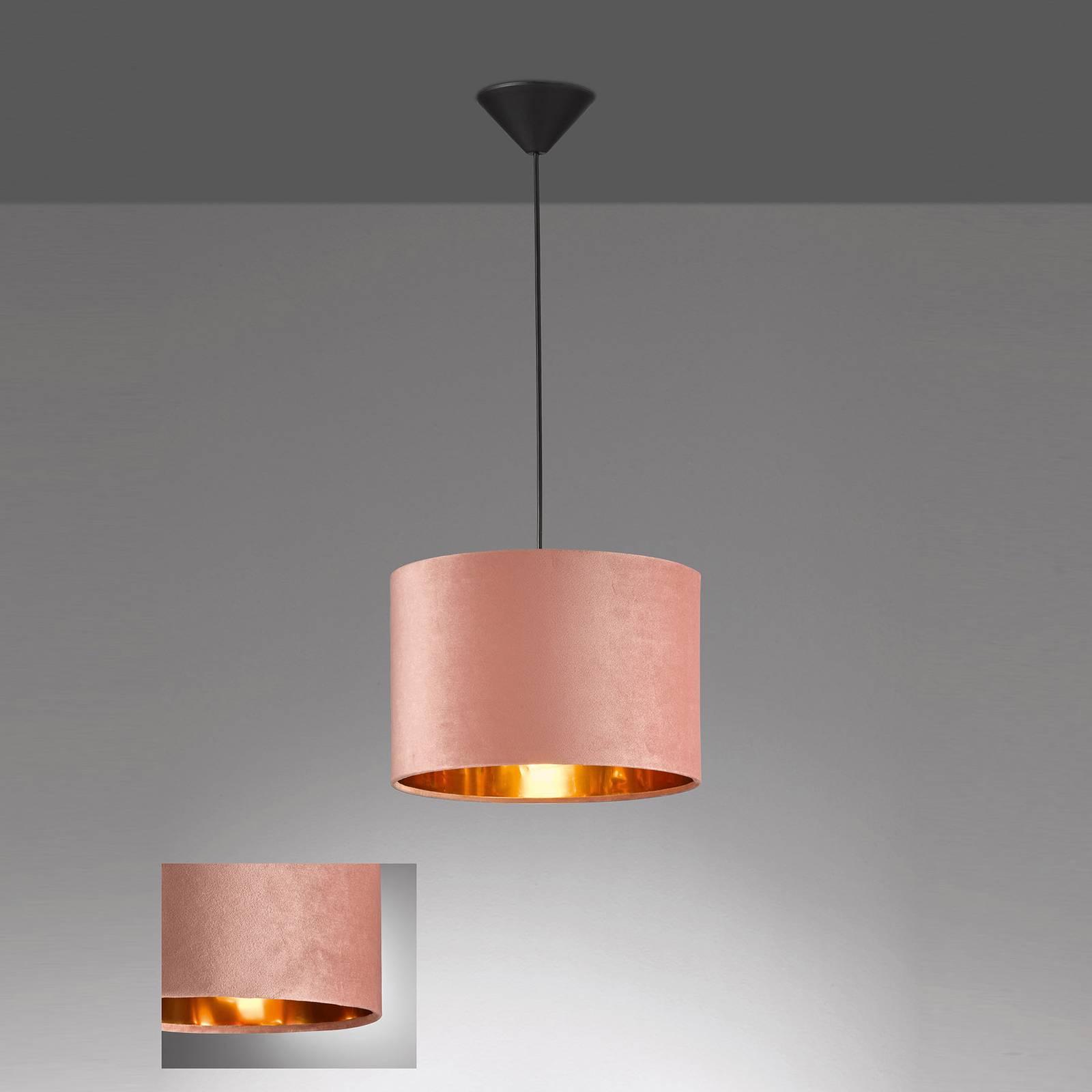 Lampa wisząca Aura jedwabny klosz Ø30cm różowa