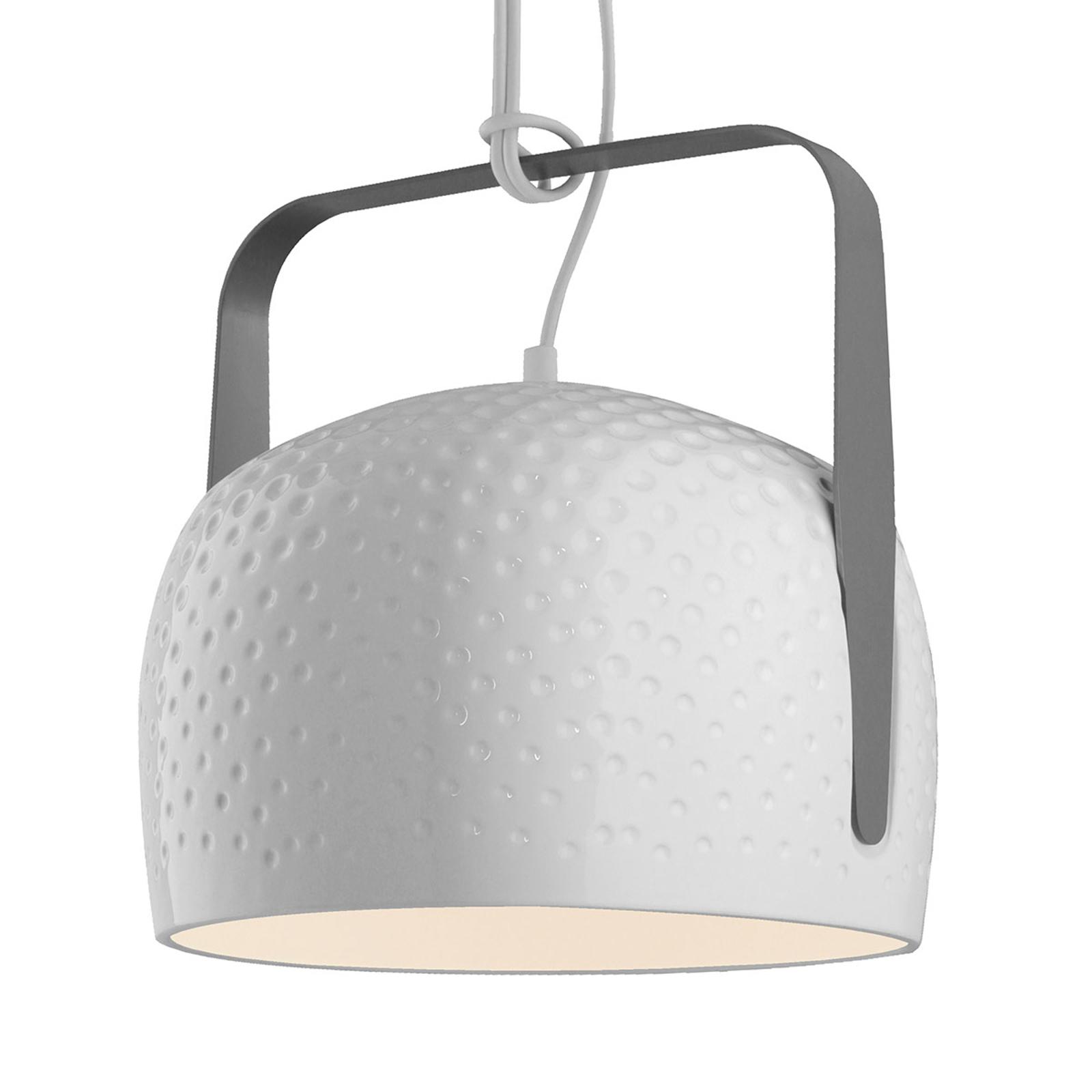 Karman Bag - biała lampa wisząca Ø 32 cm struktura