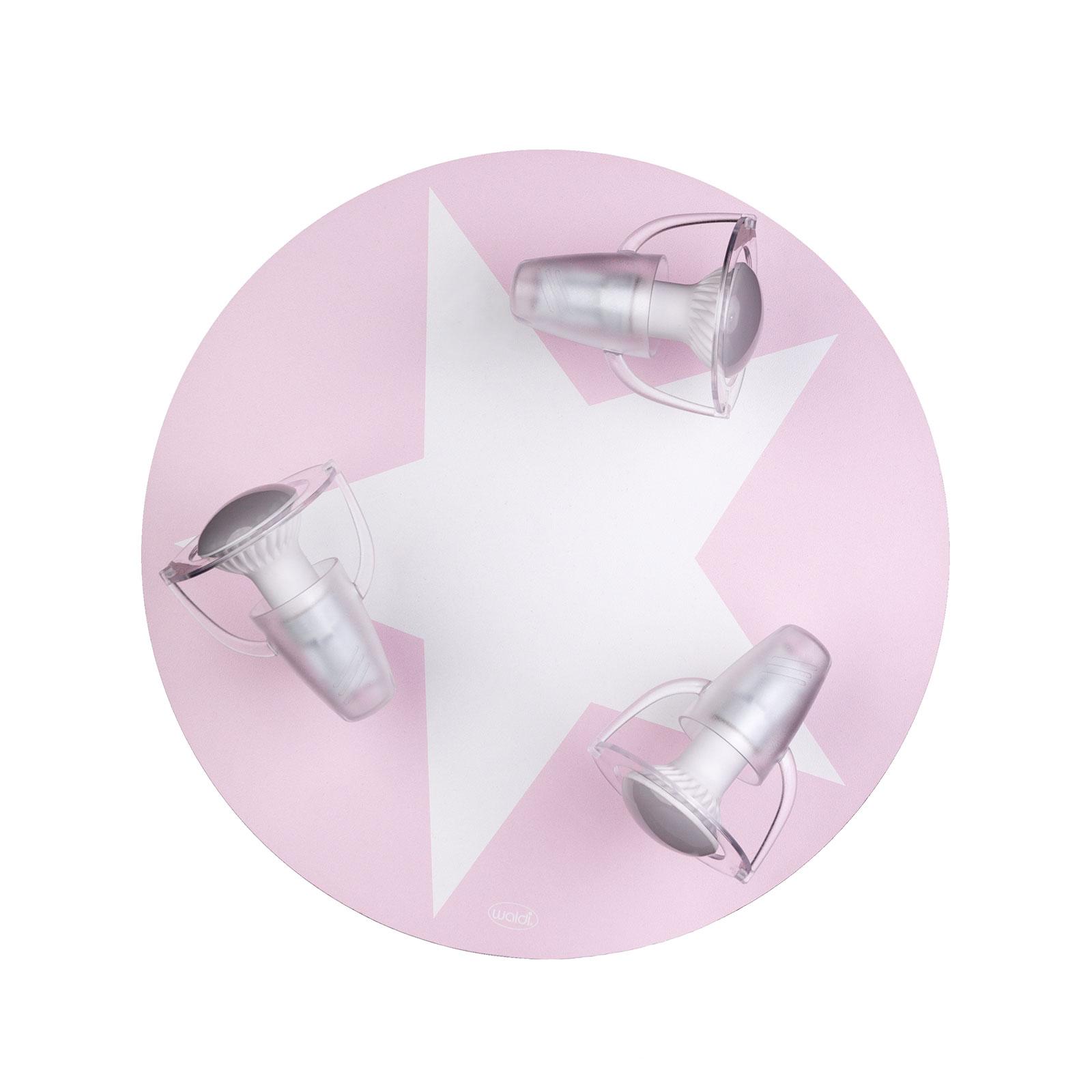 Plafondlamp ster in roze