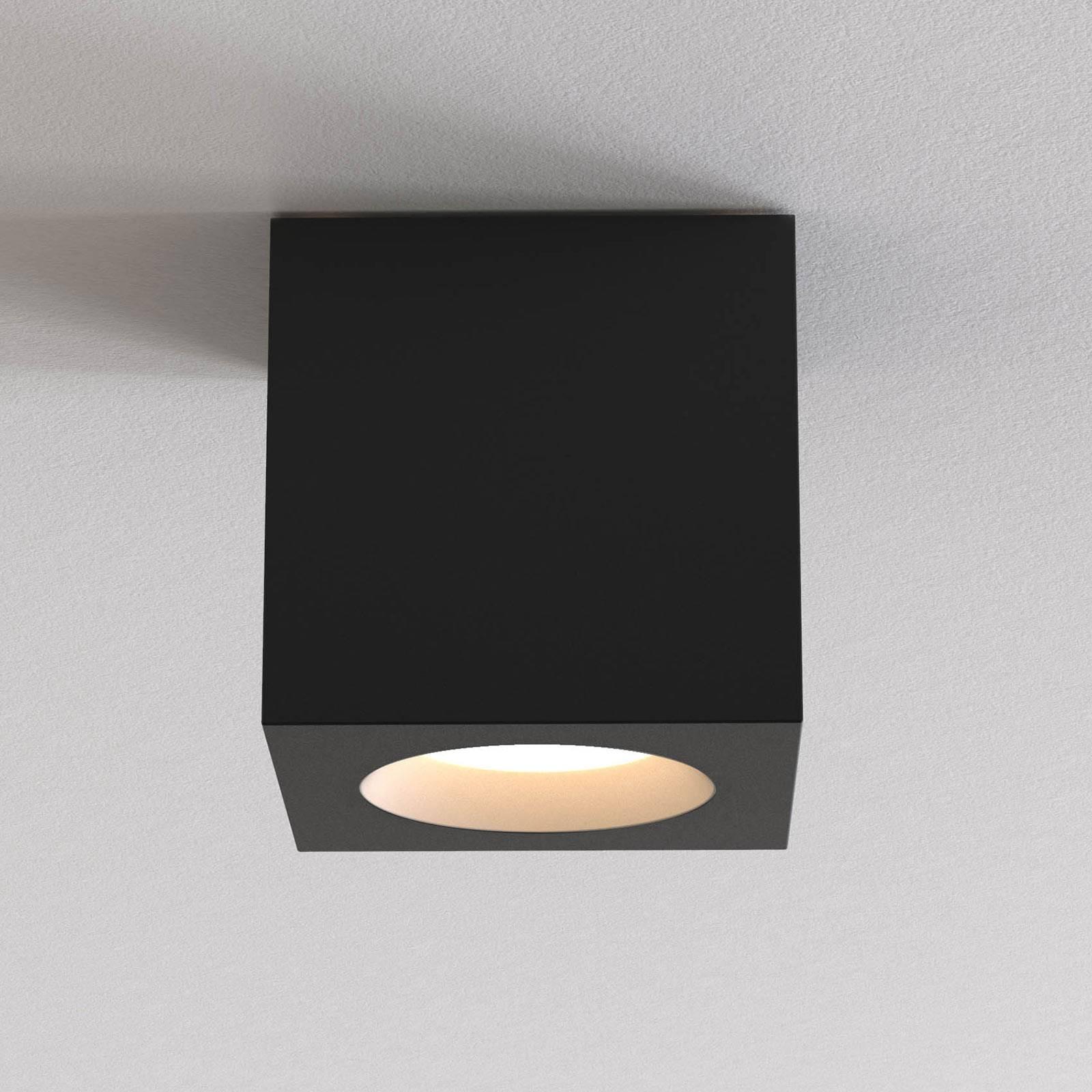 Astro Kos Square II plafondlamp, zwart