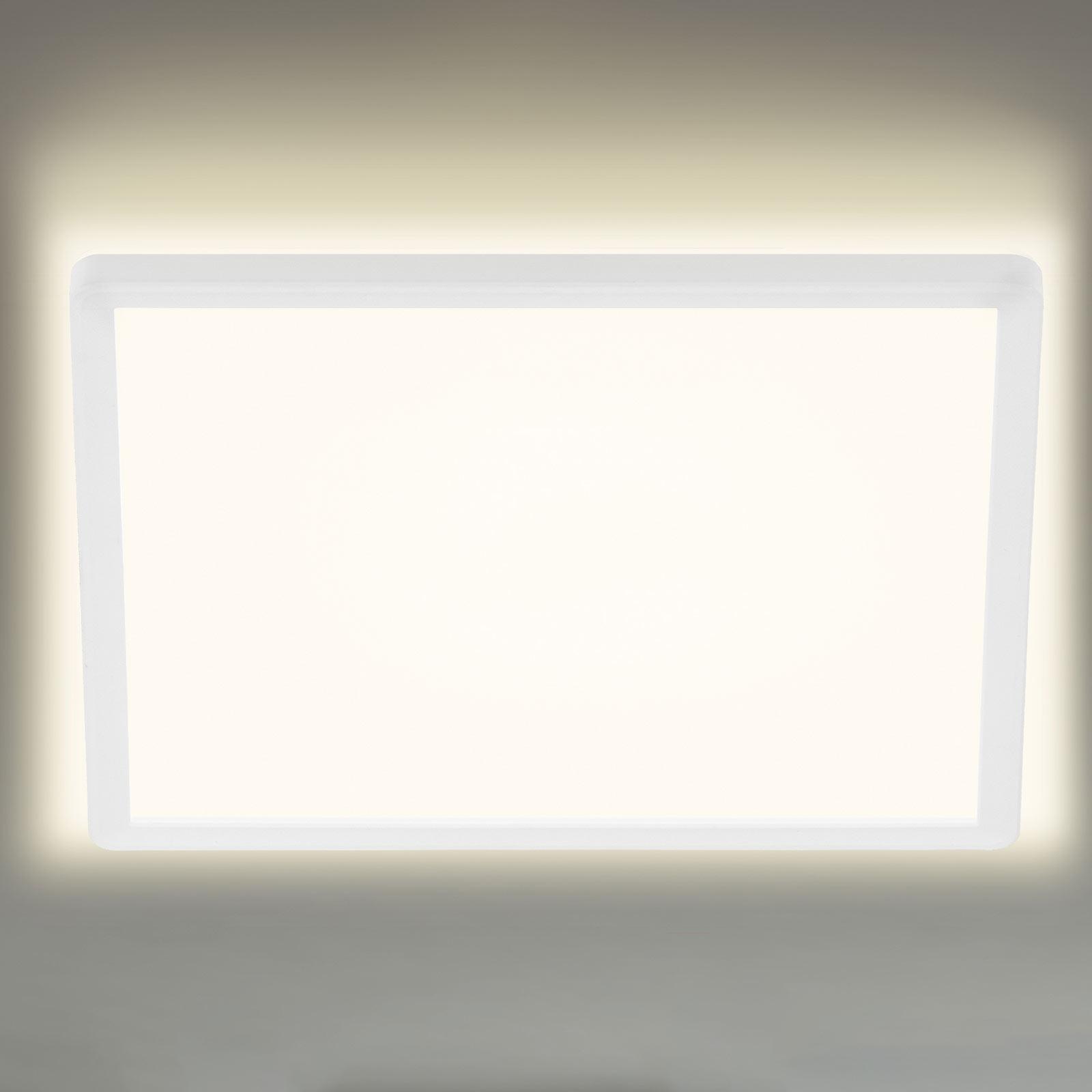 LED-taklampe 7156/7158, kantet 42x42cm