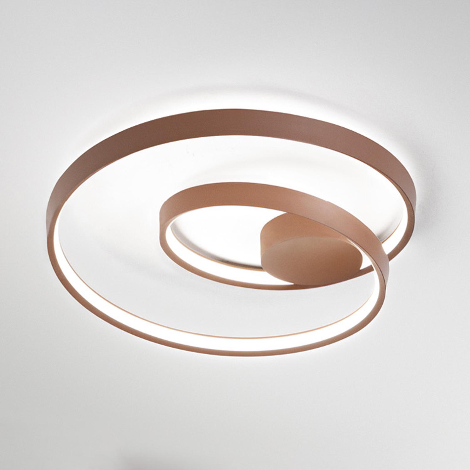 Lampa sufitowa LED Ritmo, Ø 80 cm, cynamon