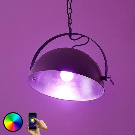 Lampada LED a sospensione Muriel WiFi nero/argento
