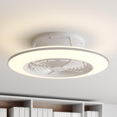 Arcchio Fenio LED-loftventilator med lys, hvid