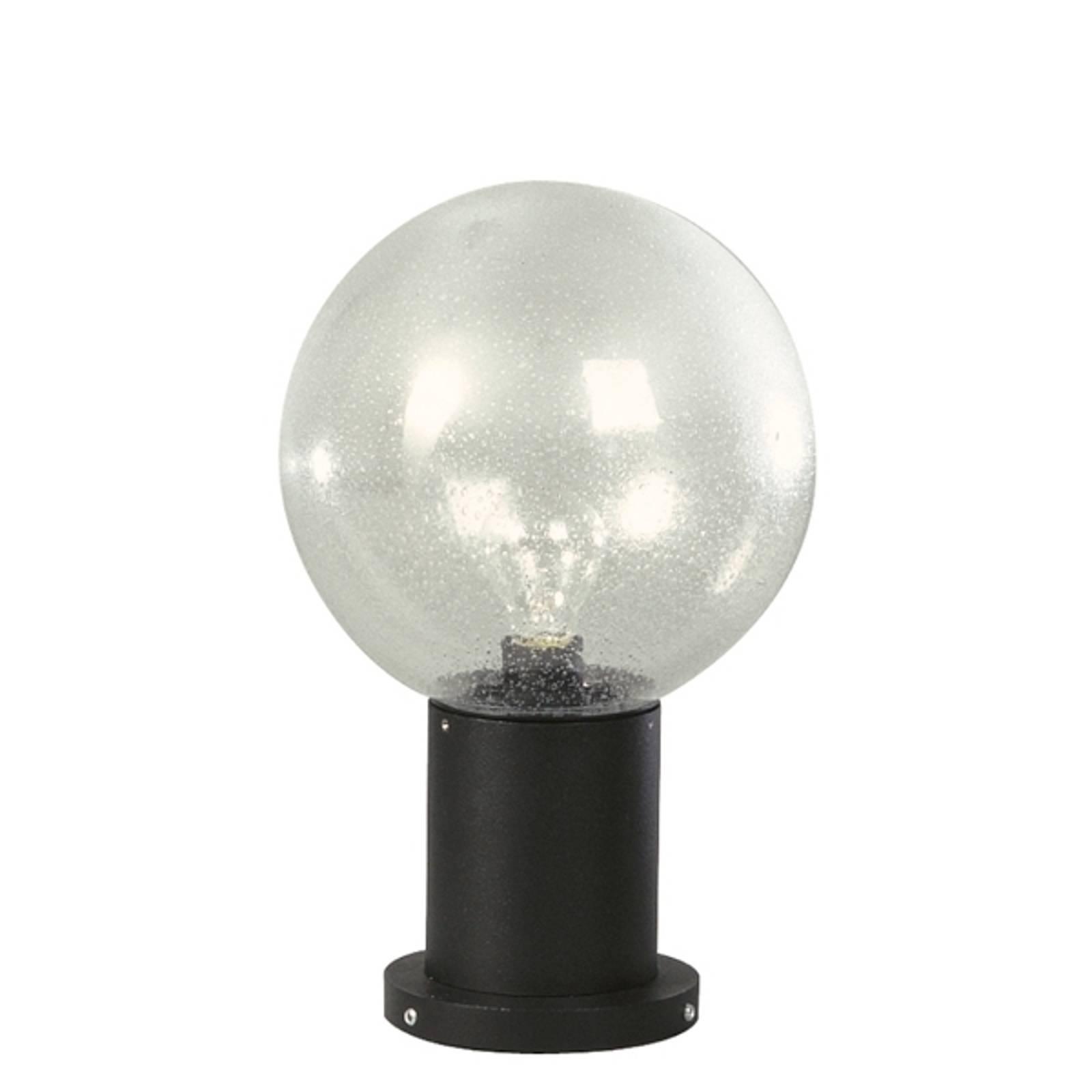 Luminaire pour socle II noir en verre à bulles