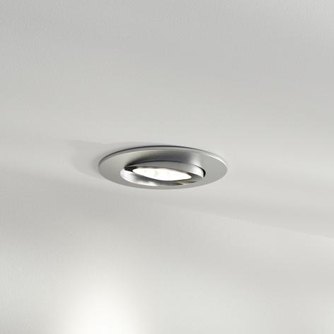 LED-Einbaustrahler Zenit mit IP44, nickel