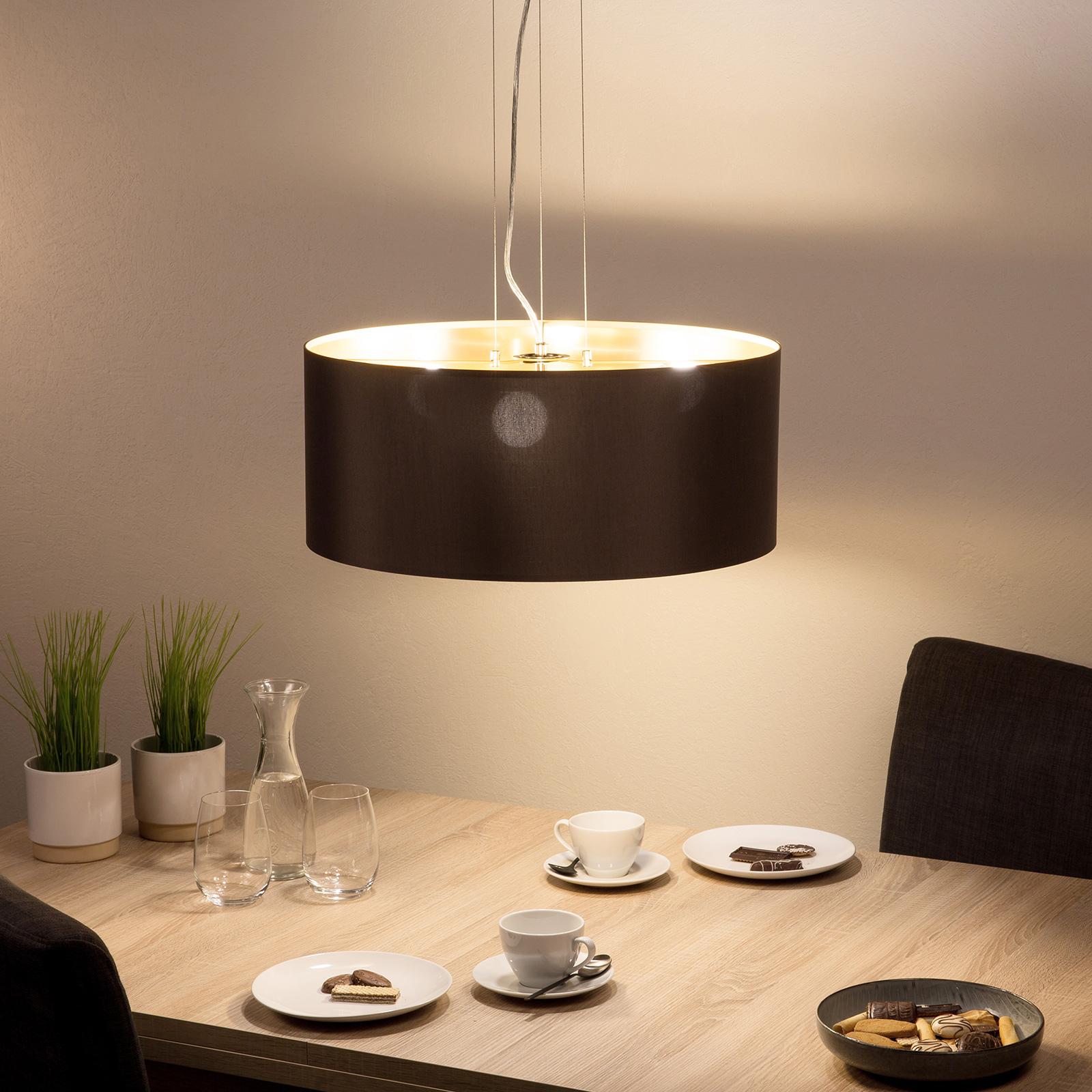 Maserlo textilní závěsné světlo, cappuccino, 53 cm