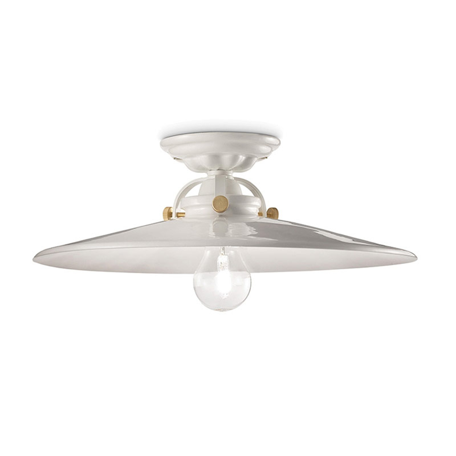 Retro plafondlamp C105 wit