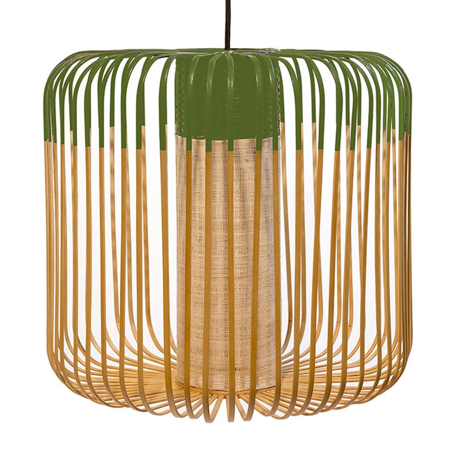 Forestier Bamboo Light M hanglamp 45 cm groen