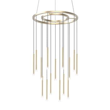 Grok Candle -LED-riippuvalaisin 18-lamppuinen