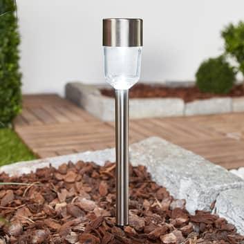 10 LED-solcellelamper Maarten i rustfritt stål
