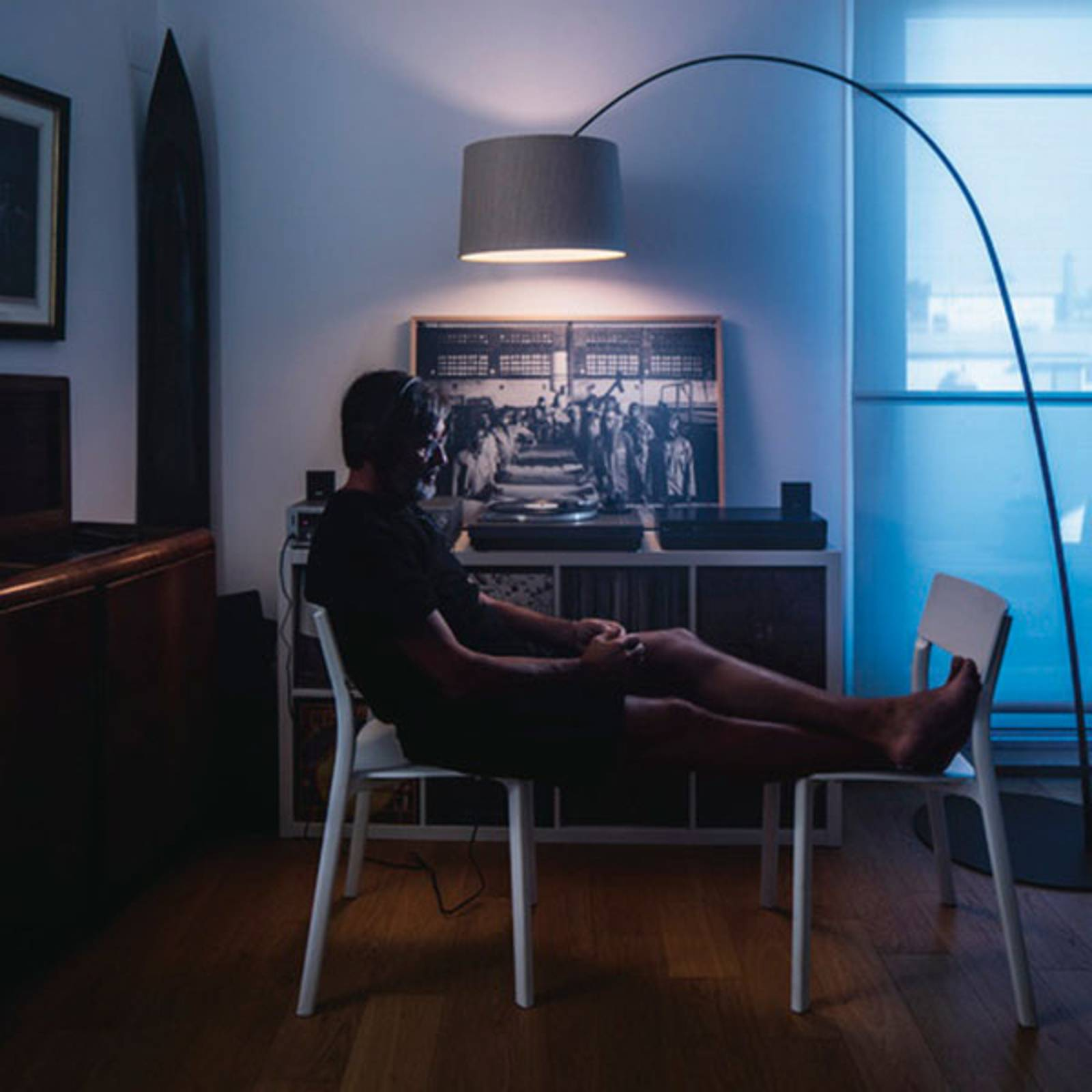 Foscarini Twiggi Wood LED-Stehleuchte schwarz