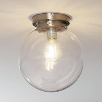 Globe - plafonnier abat-jour sphérique transparent