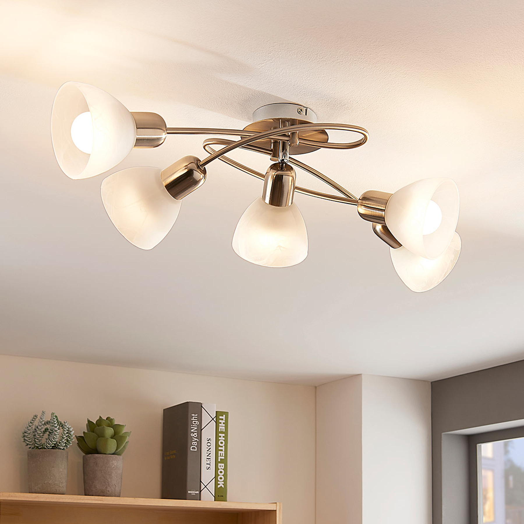 5-punktowa lampa sufitowa LED paulina, salon