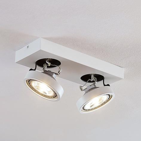 LED-Deckenleuchte Negan in Weiß, zweiflammig