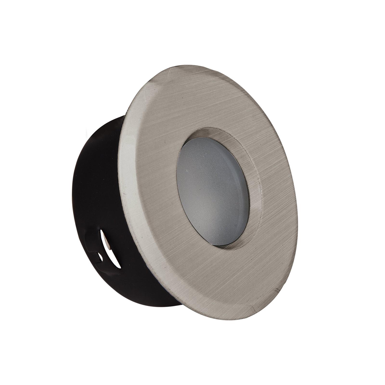 Reflektor wpuszczany DL7001, żelazo szczotkowane