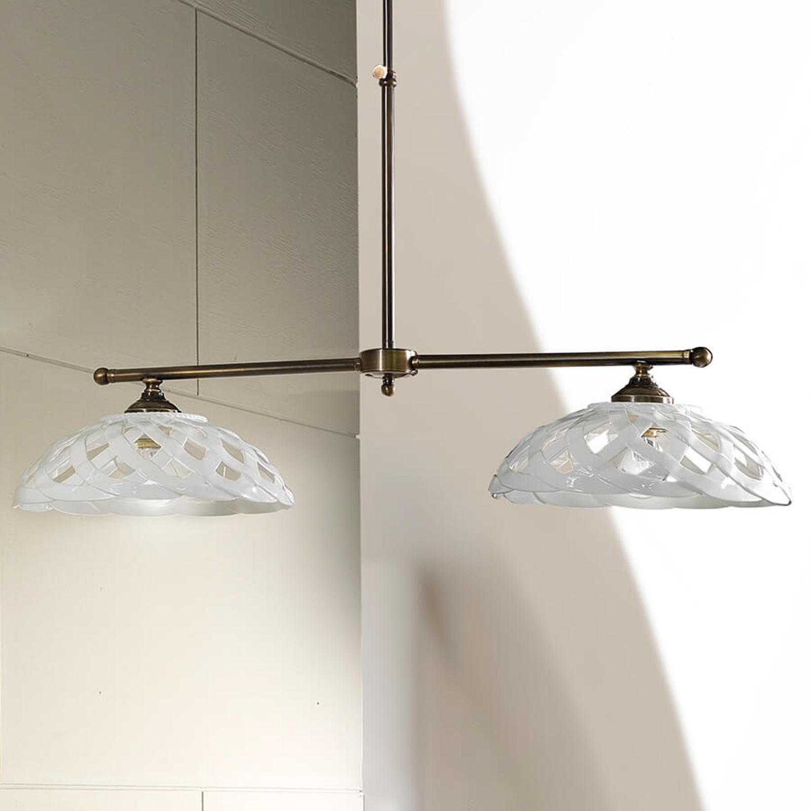 Suspension céramique Emanuel à 2 lampes