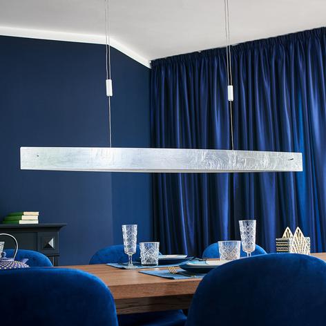 LED-hengelampe Malu, sølvantikk, 119 cm