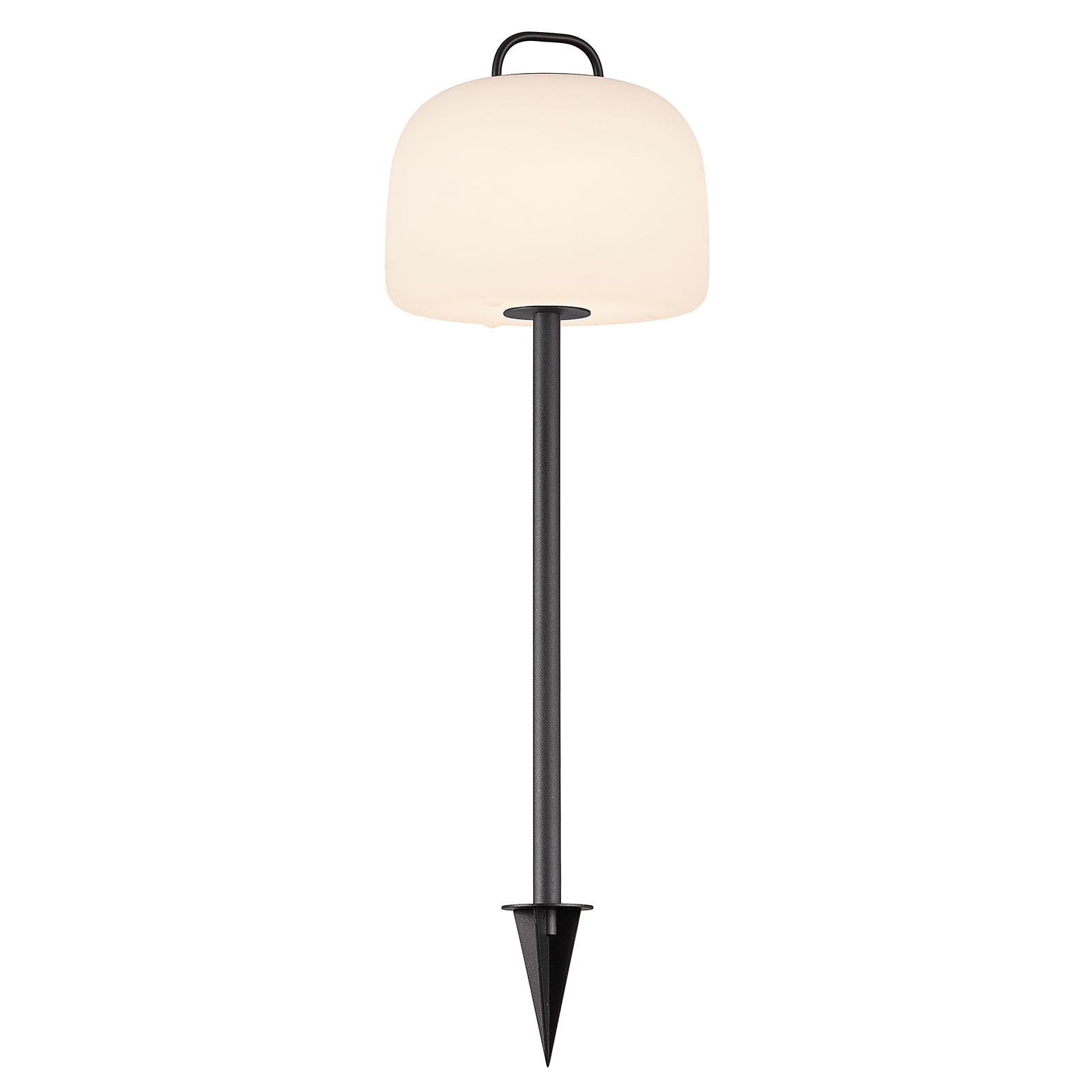 Kettle LED-lampe med jordspyd og skærm Ø 22 cm
