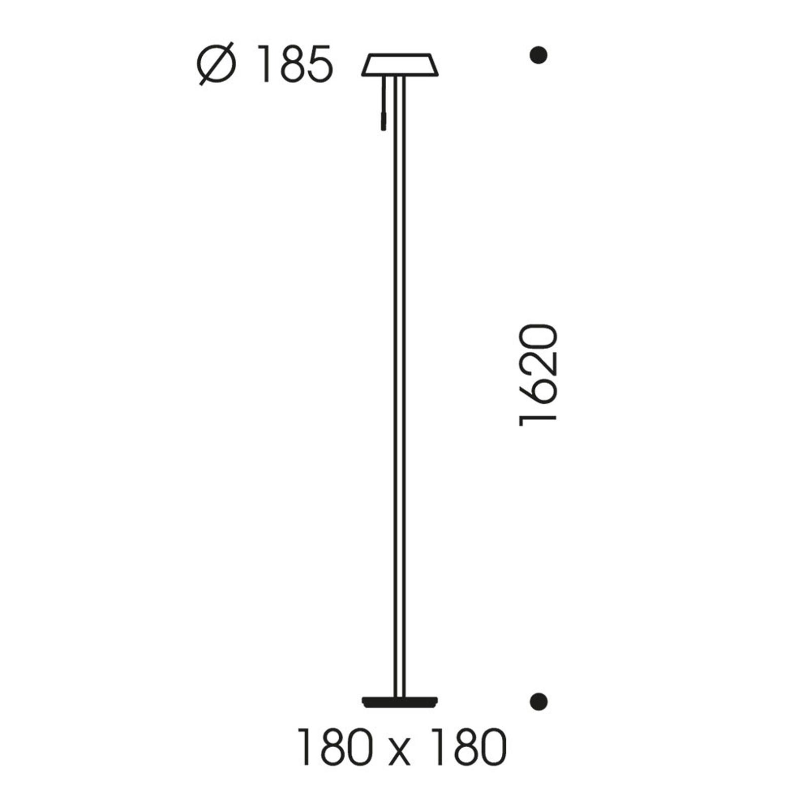 OLIGO Glance lampadaire LED rouge mat
