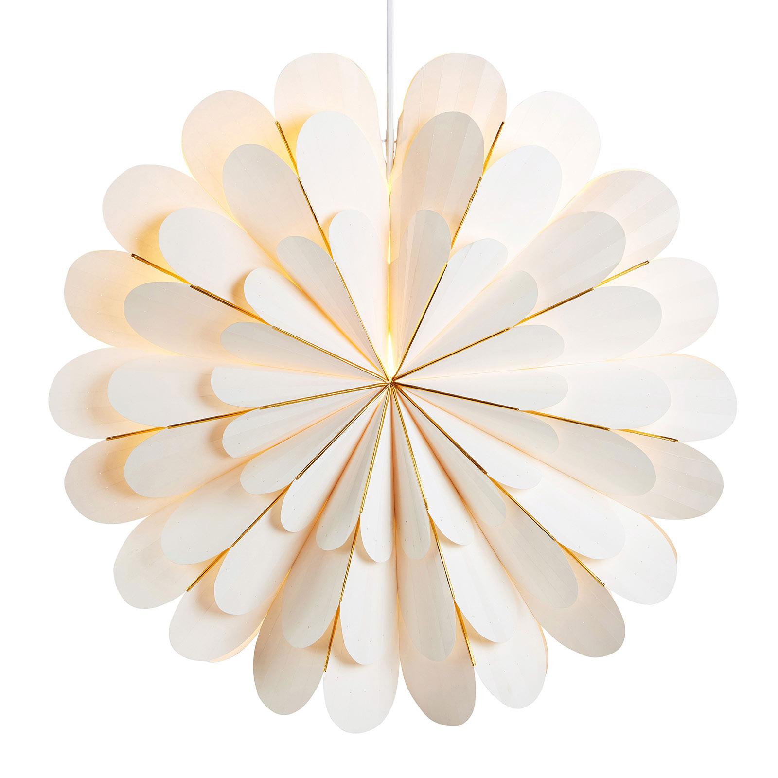 Marigold dekostjerne som hængelampe, hvid