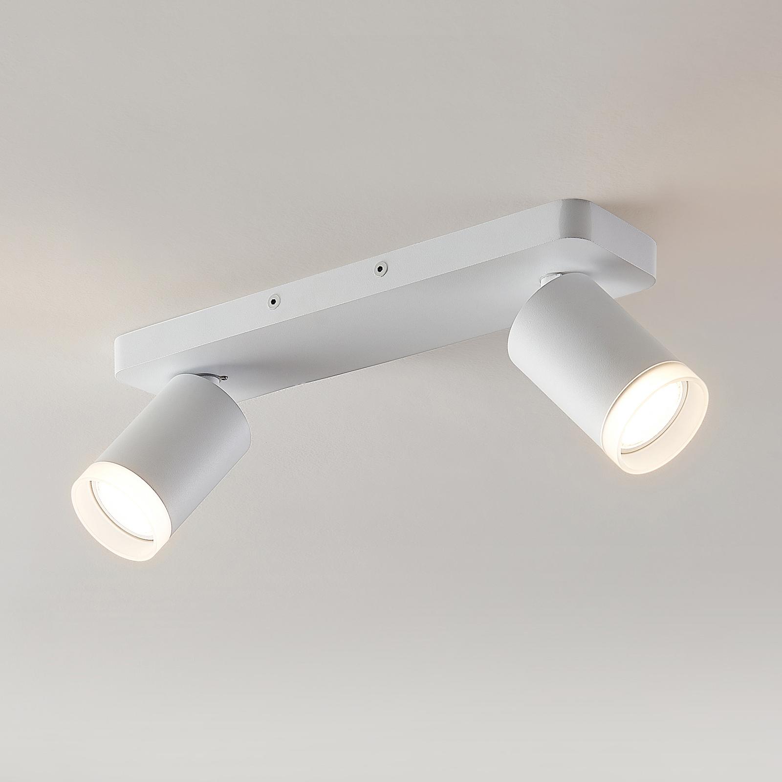 Arcchio Efilius takspotlight, vit, 2 lampor