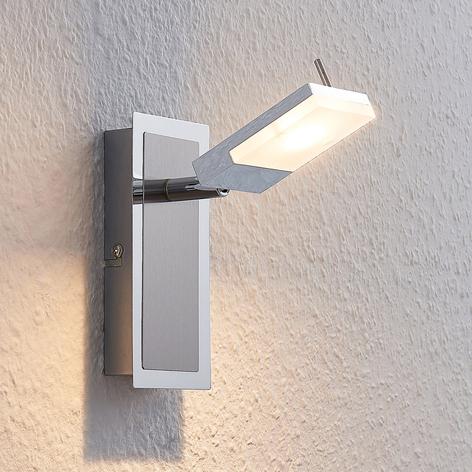 Spot LED Alija, chromé, à 1 lampe