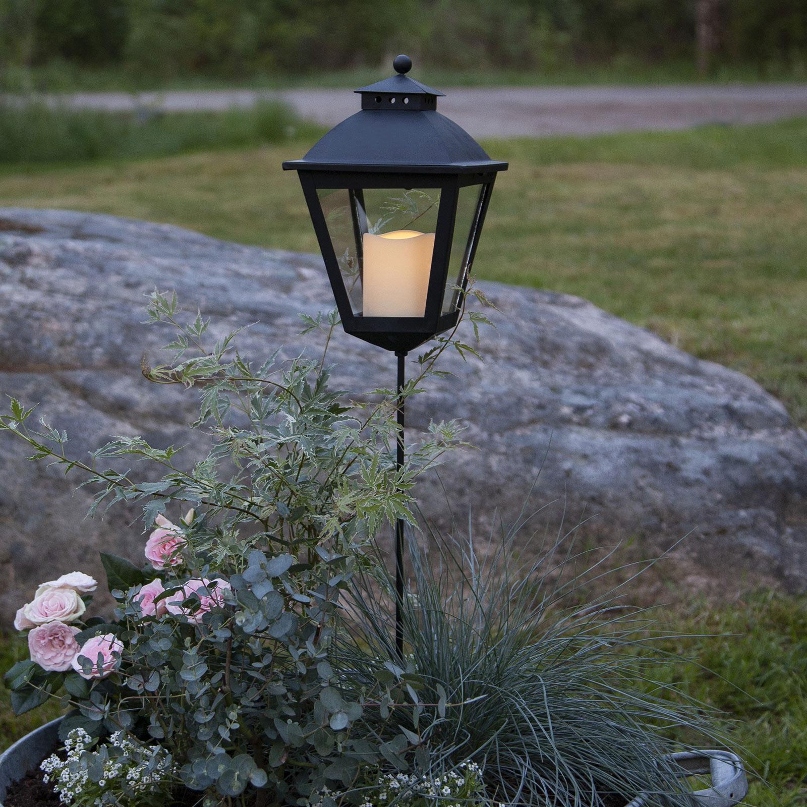 LED-Grablaterne Serene mit Timer, Höhe 84 cm