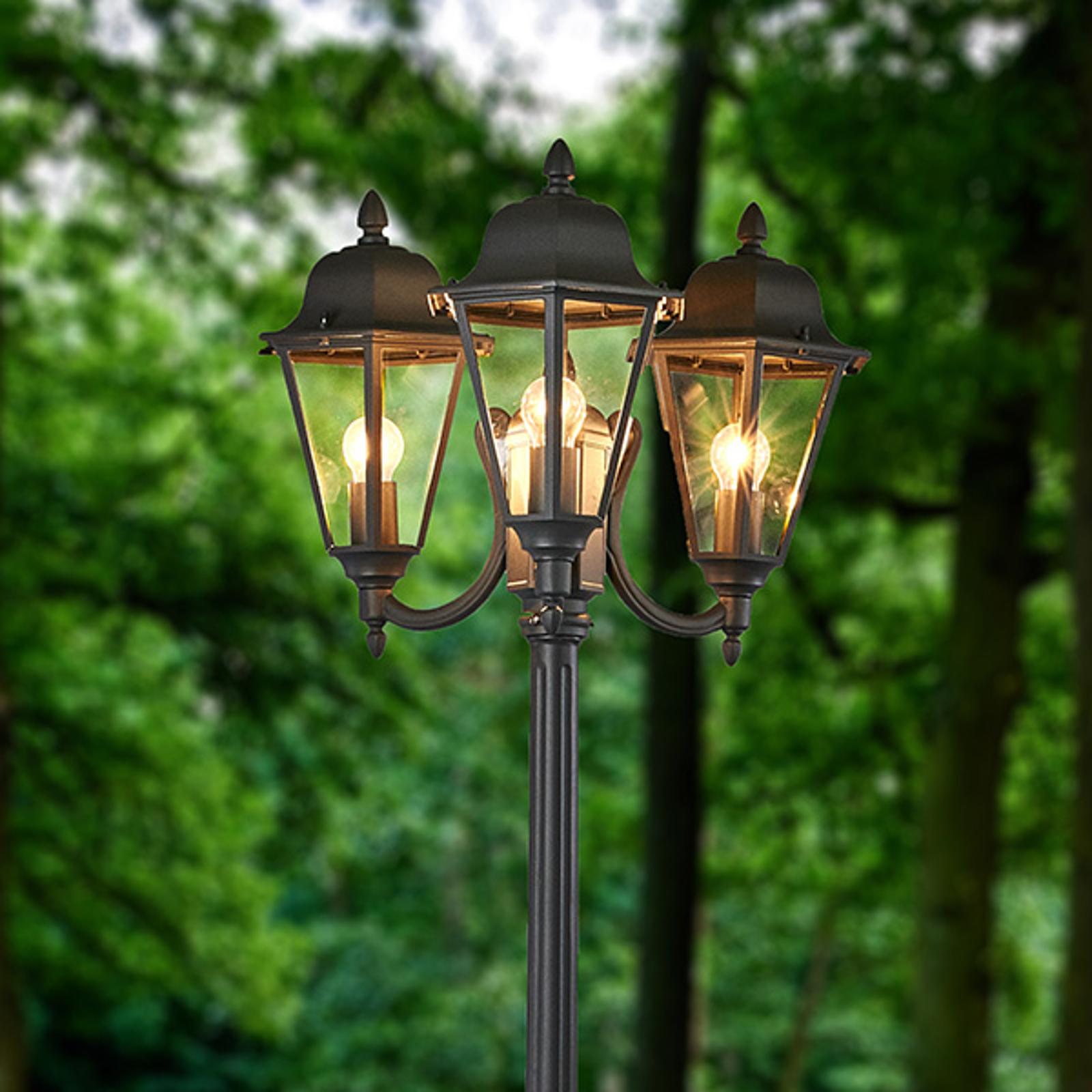 Candélabre Edana à 3 lampes en gris graphite