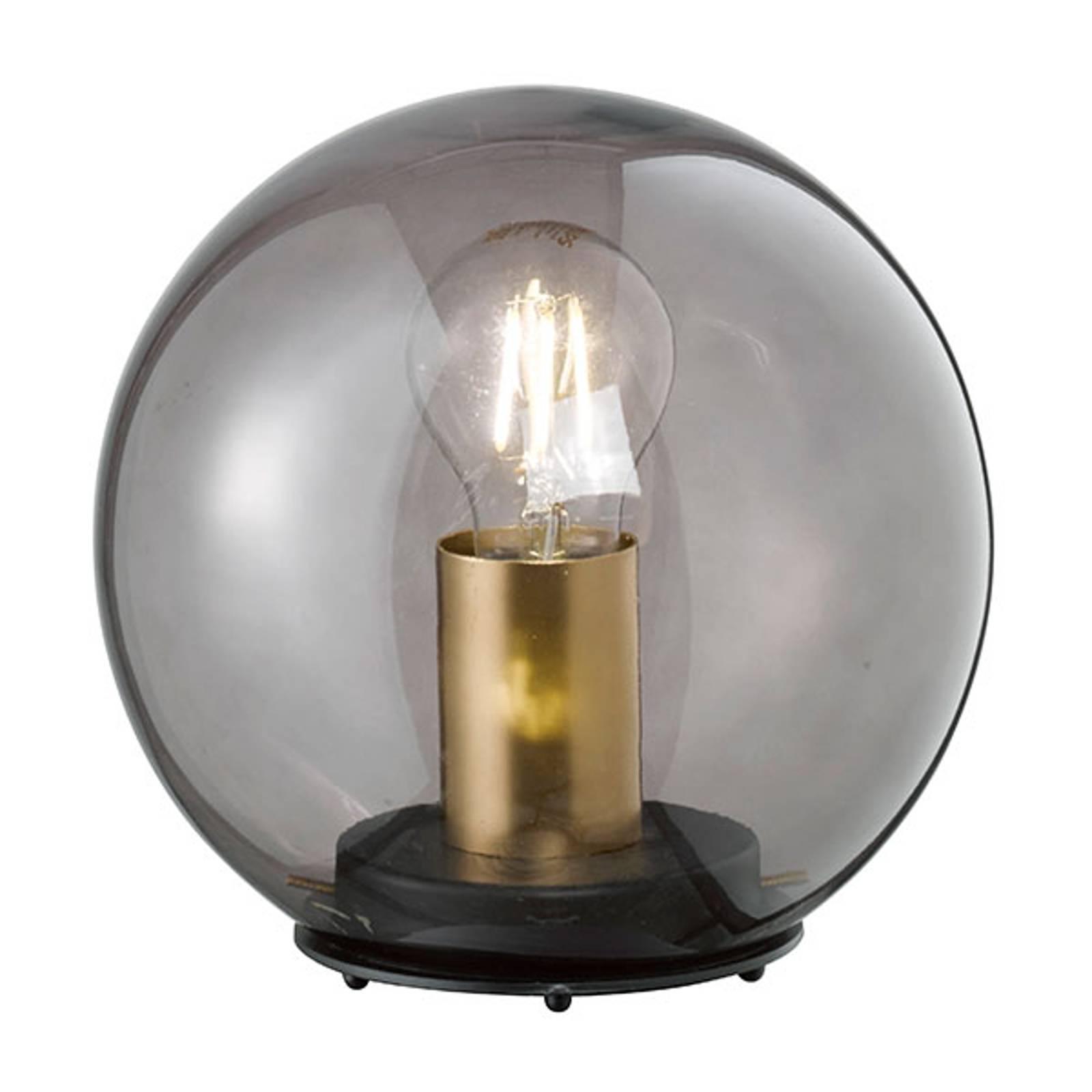 Tafellamp Dini met bolkap van glas, 30 cm