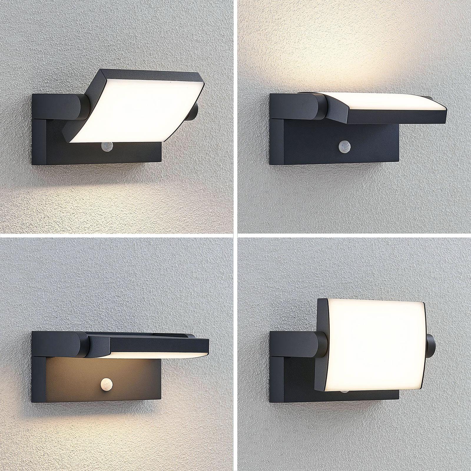 Lureshine LED Au/ßenleuchte mit Radarwarner Wandleuchte 18W 1800LM Au/ßenlampe 6000K Kaltwei/ß IP65 Wasserdicht Au/ßenbeleuchtung Geeignet f/ür Au/ßenw/ände Garagen G/ärten Tore usw.