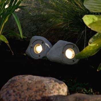 Lot de 3 spots LED Amalfi aspect pierre
