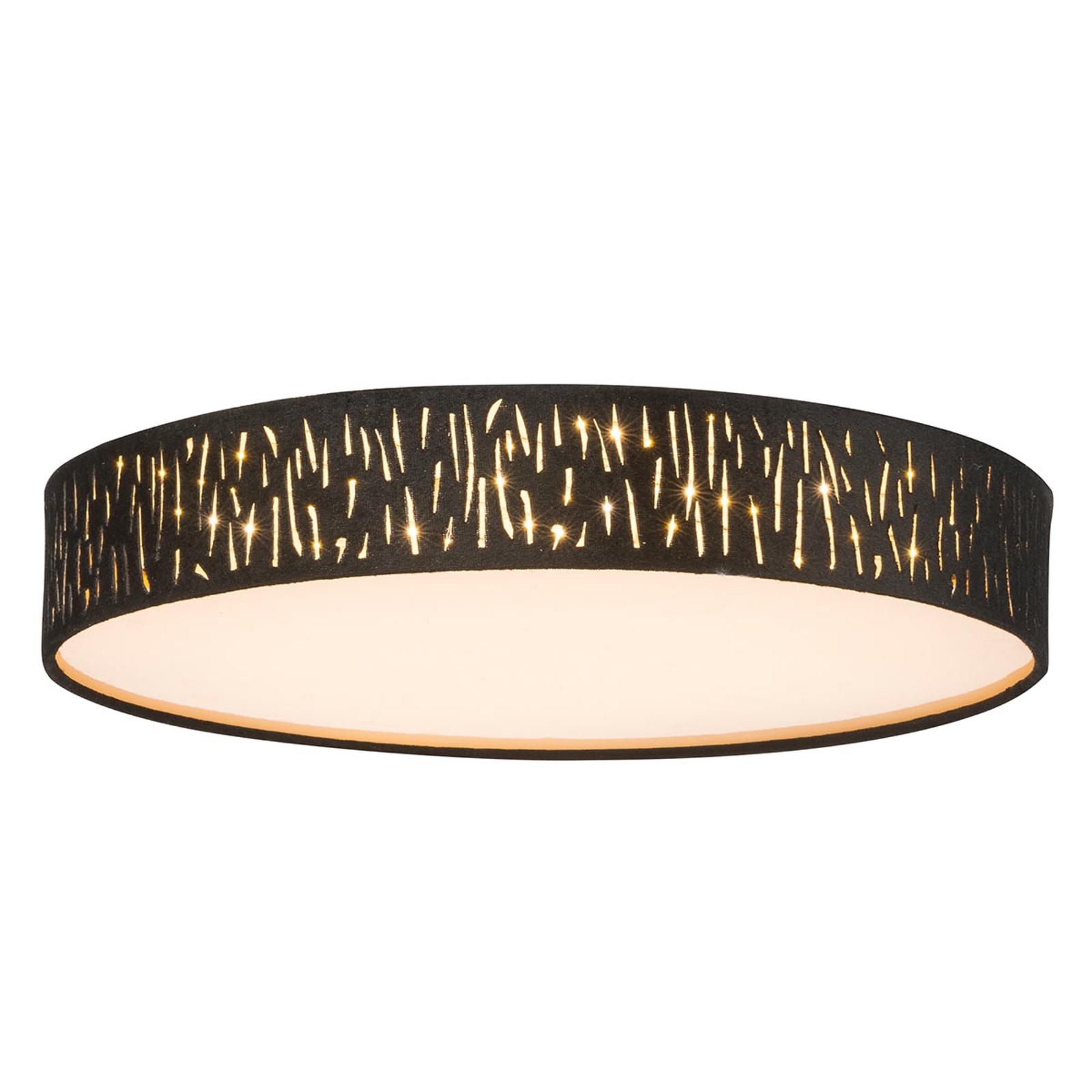Okrągła lampa sufitowa LED Tuxon czarno-złota