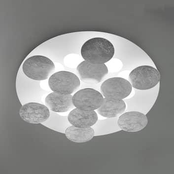 Lampa sufitowa LED Nuvola, pokryta srebrną folią