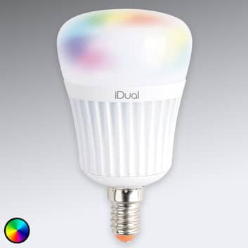 E14 iDual LED lamp 7 W RGB zonder afstandsbed.