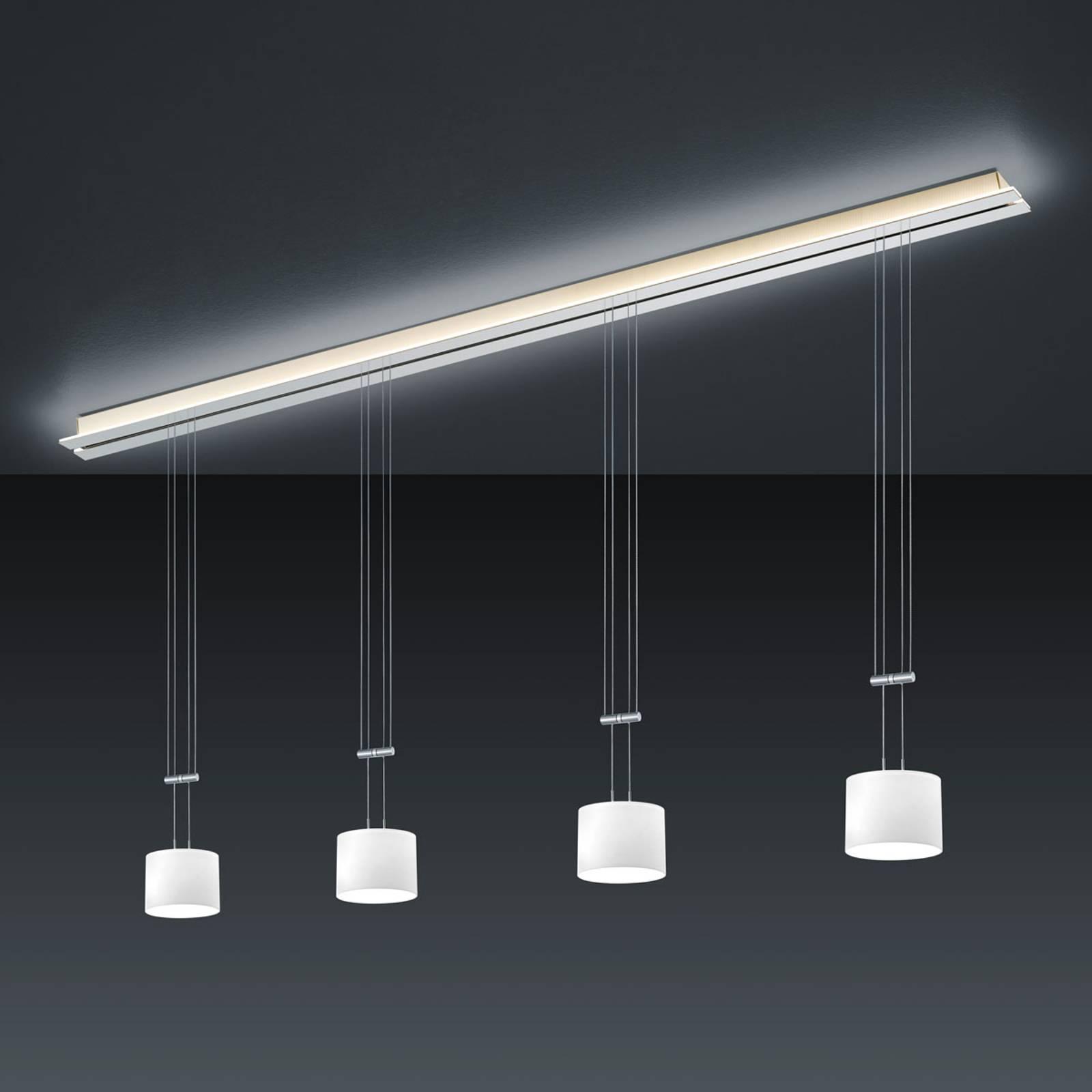 BANKAMP Strada Gracia hanglamp, 4-lamps, 185 cm