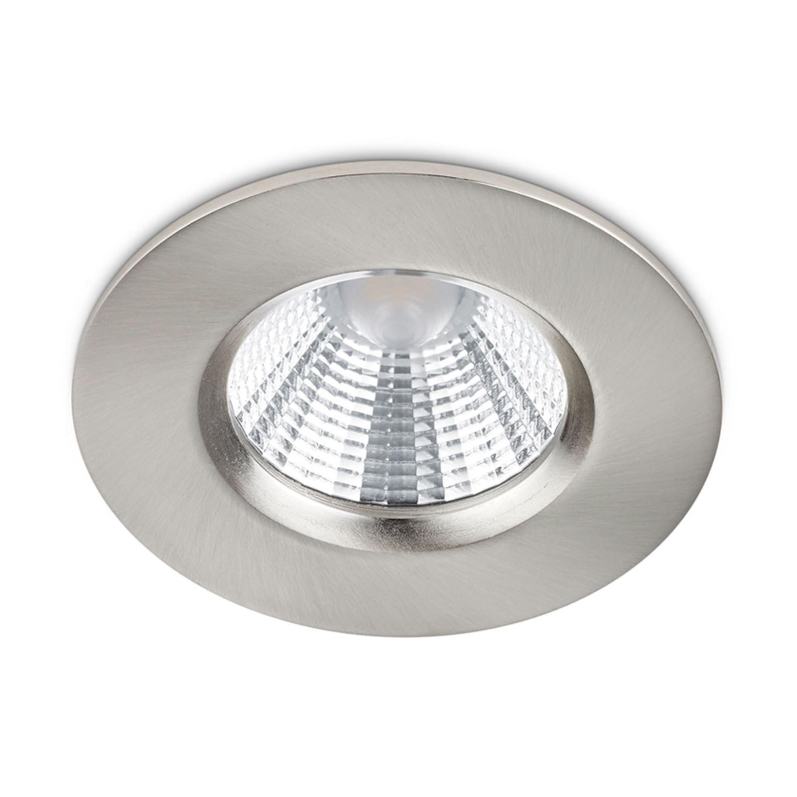 Nikkelkleurige LED inbouwspot Zagros, IP65