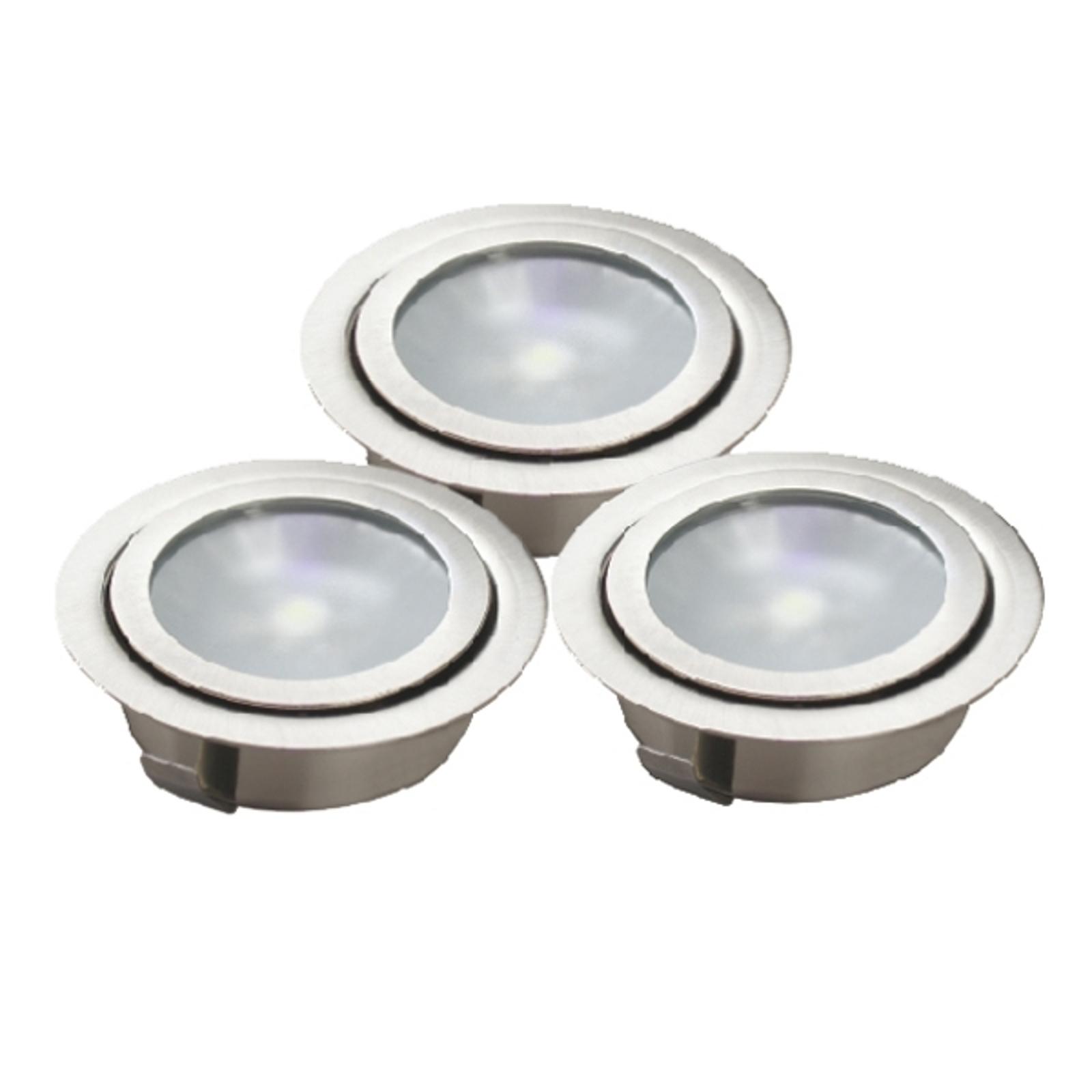 Tripla lampada LED da interrare LUXA