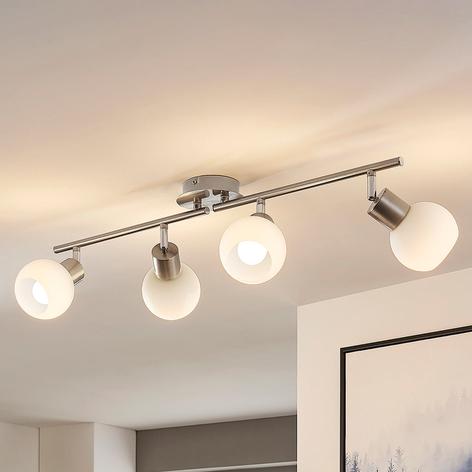 Elaina - lampada LED da soffitto a 4 luci nichel