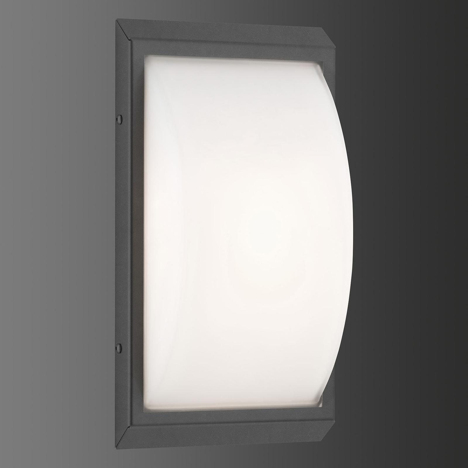 LED buitenwandlamp 053 van roestvrijstaal, grafiet