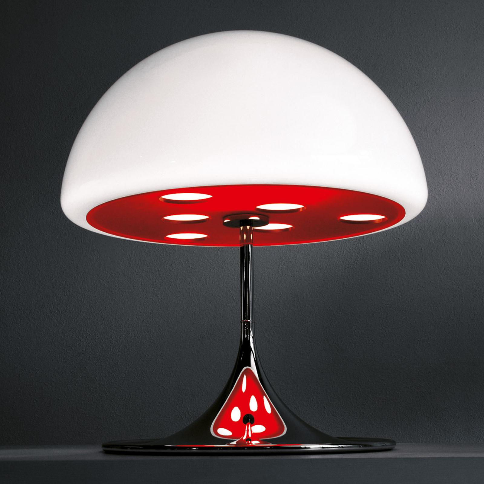 Martinelli Luce Mico - lampe à poser, 60 cm, rouge