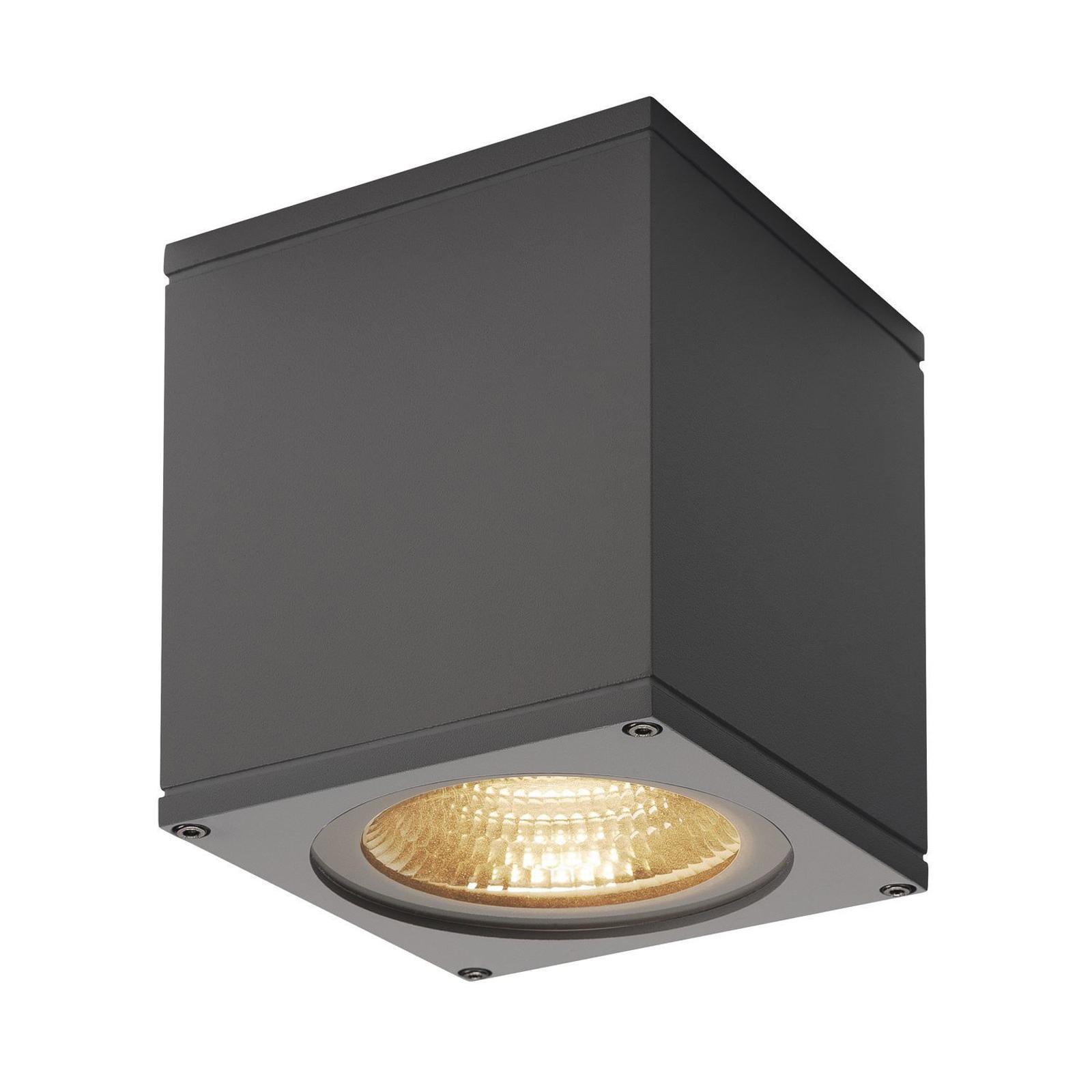 SLV Big Theo LED-Außendeckenlampe, anthrazit