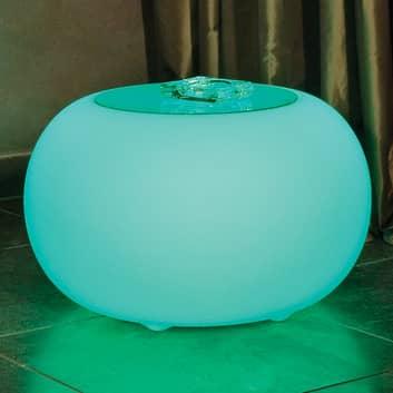 Bubble LED Accu Outdoor - pöytä lasilevyllä