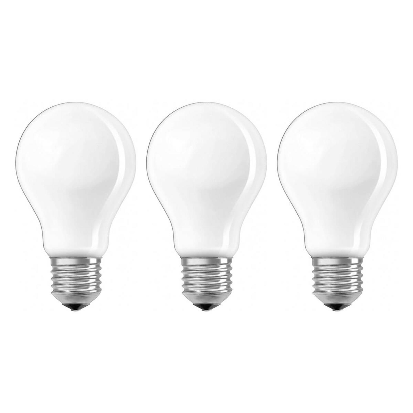 Lampadina LED E27 7W, 806 lumen, set da 3