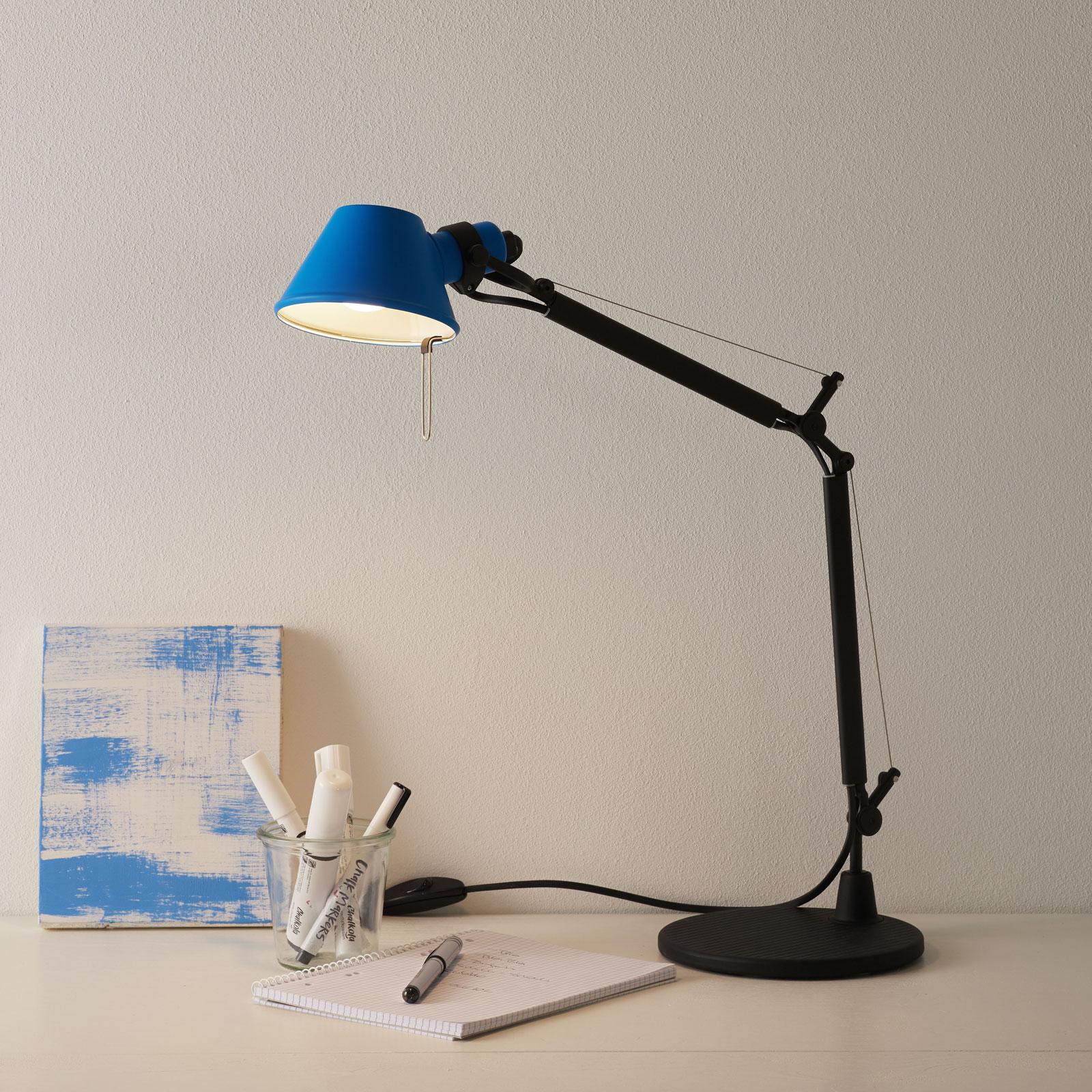 Artemide Tolomeo Micro Bicolor bord svart/blå