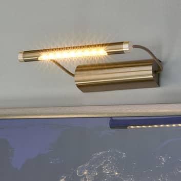 Batteriebetriebene LED-Bilderlampe Tommy, messing